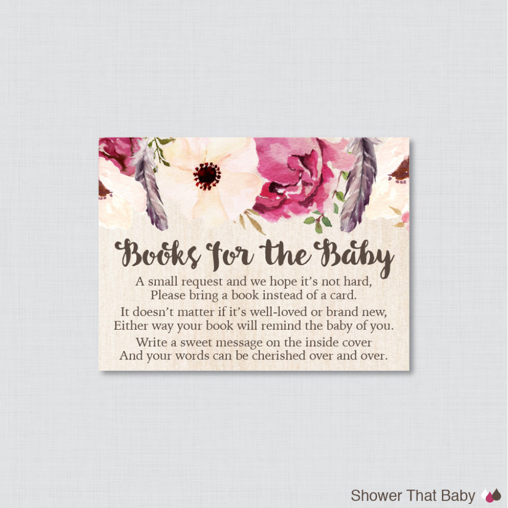 Baby Shower. Baby Shower Bring A Book Instead Of A Card: Little   Please Bring A Book Instead Of A Card Printable