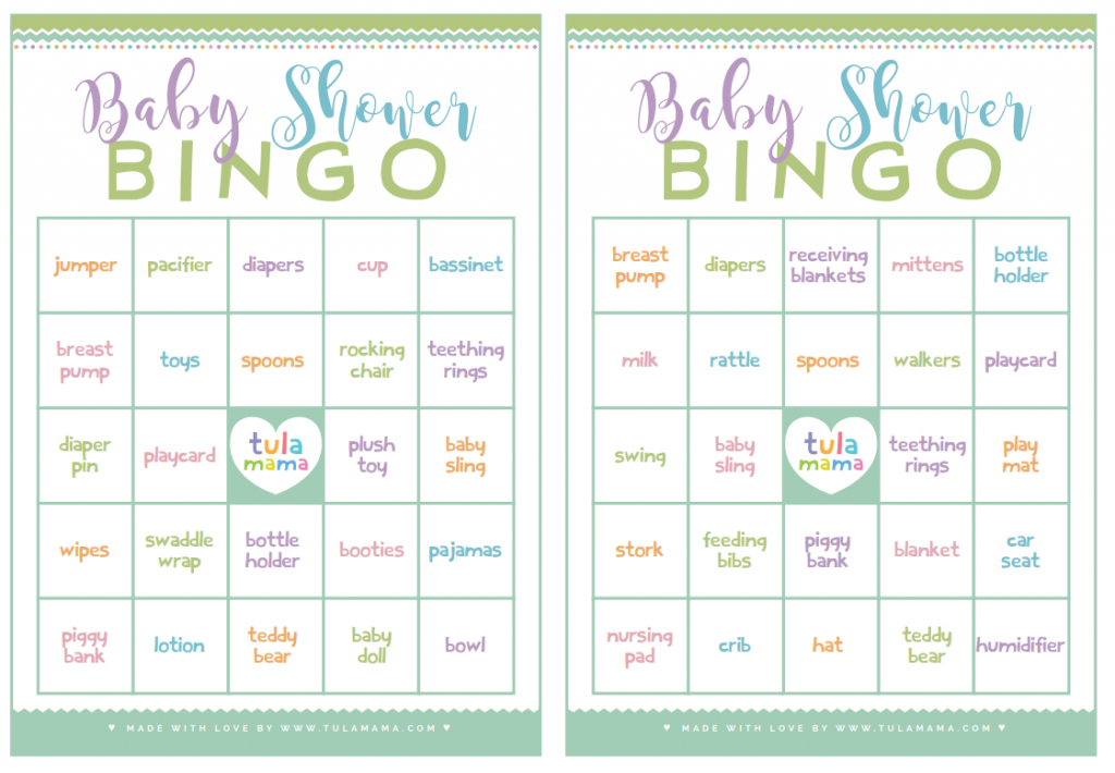 Baby Shower Bingo - A Classic Baby Shower Game That's Super Easy To Plan   Free Printable Baby Shower Bingo Cards