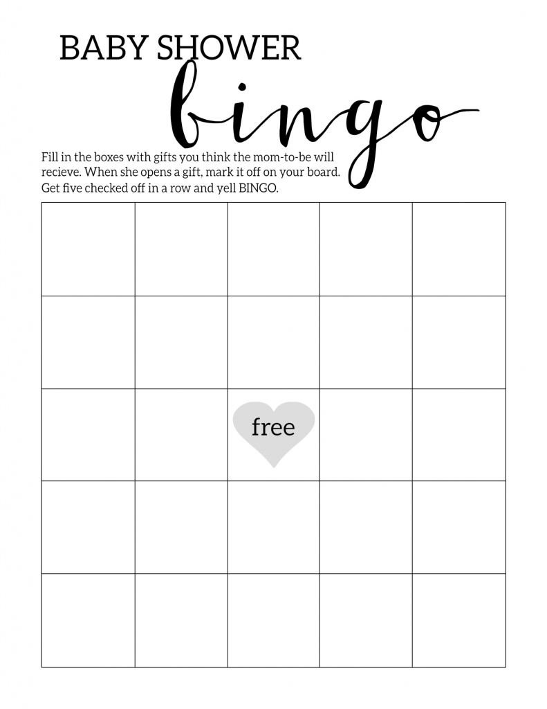 Baby Shower Bingo Printable Cards Template - Paper Trail Design   Printable Mothers Day Bingo Cards