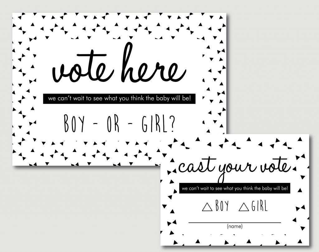 Baby Shower Decorations Gender Reveal Voting Cards Printable | Etsy | Printable Card Games Pdf