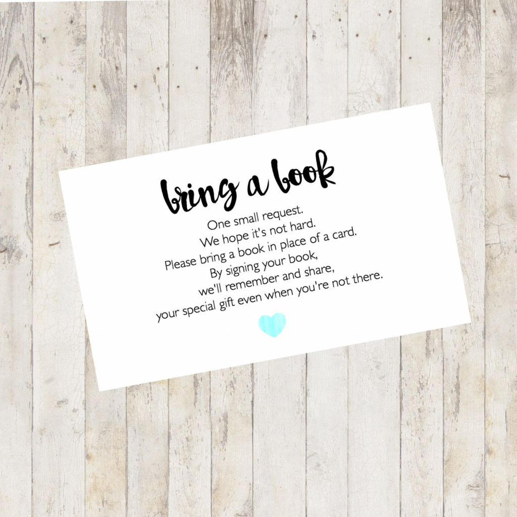 Baby Shower Printable Baby Shower Bring A Book Card Bring A | Etsy | Bring A Book Instead Of A Card Free Printable