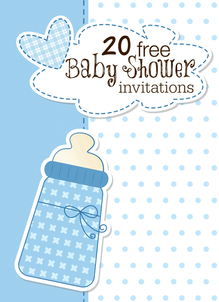 Baby Shower Template Invitation - Kleo.bergdorfbib.co | Free Printable Baby Shower Cards Templates
