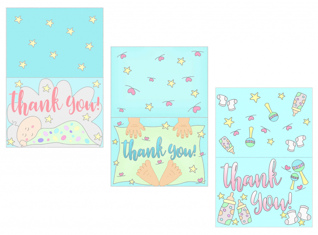 Baby Shower Thank You Cards Free Printable ~ Daydream Into Reality | Printable Thank You Cards Pdf
