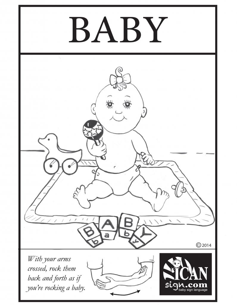 Baby Sign Language Flashcard: Baby – Free Printable Asl Flashcard | Baby Sign Language Flash Cards Printable