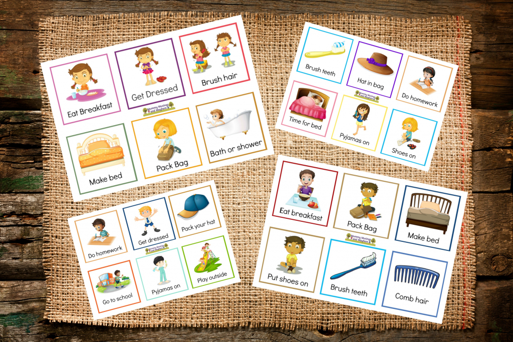 Back To School Routines - Free Printable Cards To Make It Easier   Free Printable Daily Routine Picture Cards