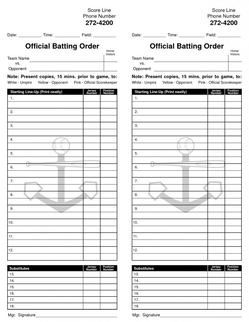 Baseball Lineup Excel Spreadsheet - Canas.bergdorfbib.co | Printable Baseball Lineup Cards Excel