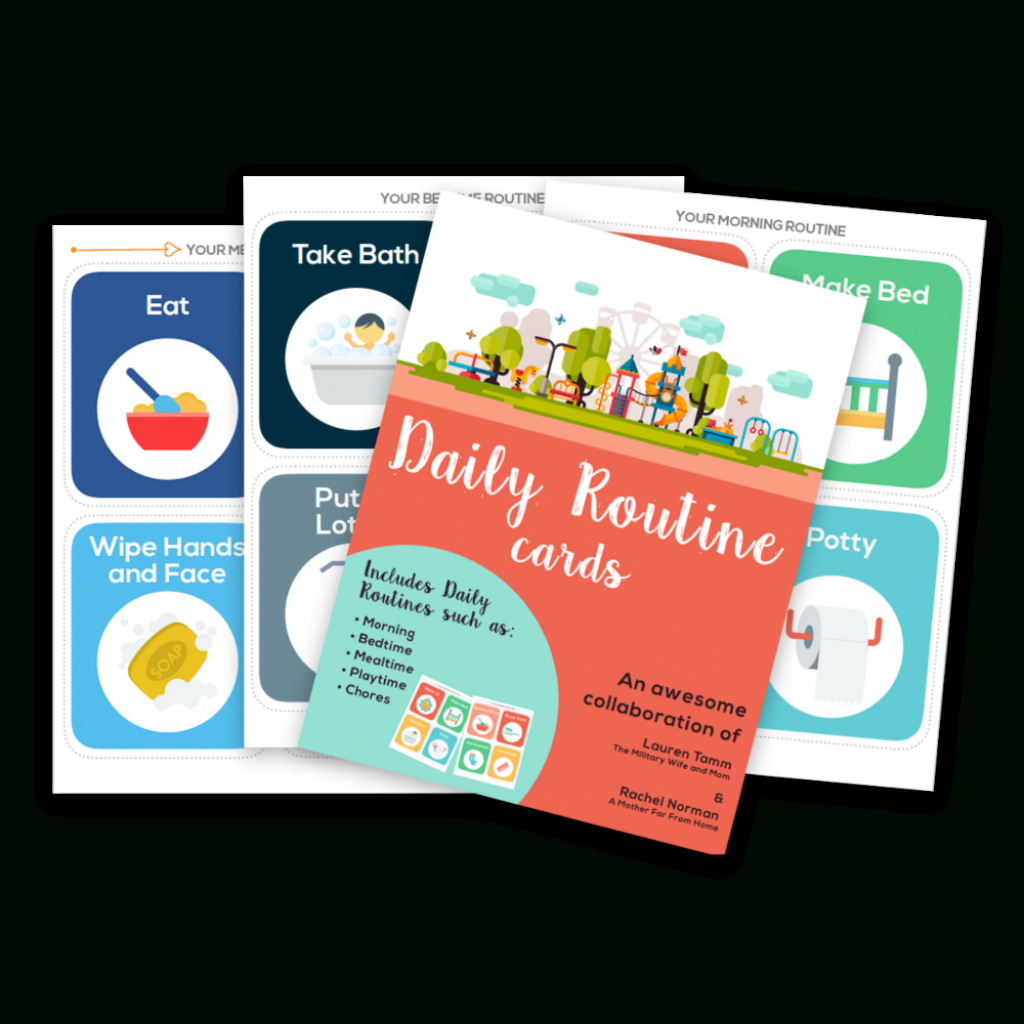 Best Printable Daily Routine Picture Cards For Kids | Printable Routine Cards For Toddlers