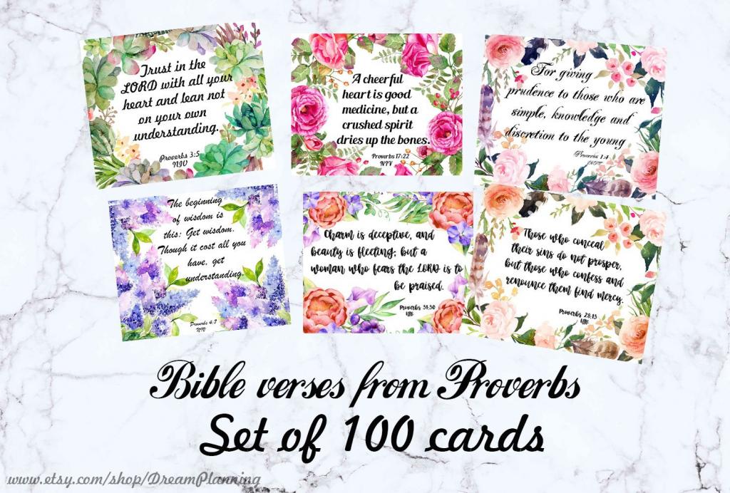 Bible Verse Cards Printable Bible Journaling Cards Scripture Cards  Christian Prayer Cards Bible Verses Proverbs Bible Memory Verses Cards | Printable Bible Verse Cards
