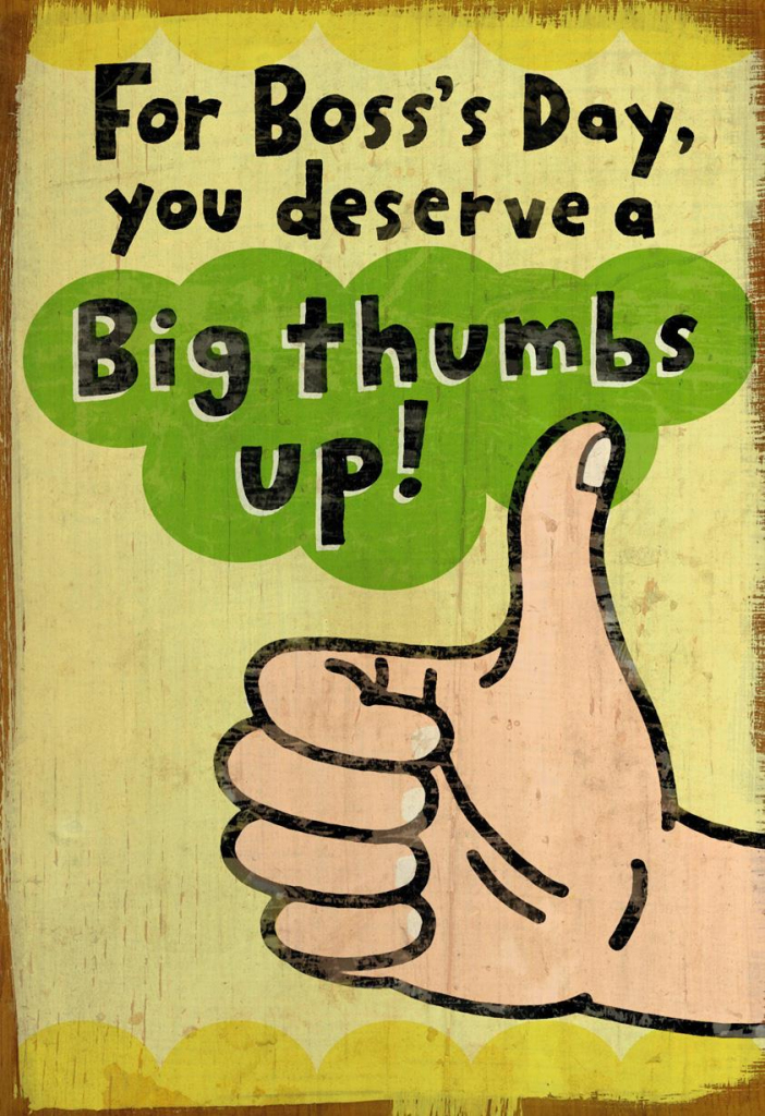 Big Thumbs Up Funny Boss's Day Card - Greeting Cards - Hallmark | Bosses Day Cards Printable