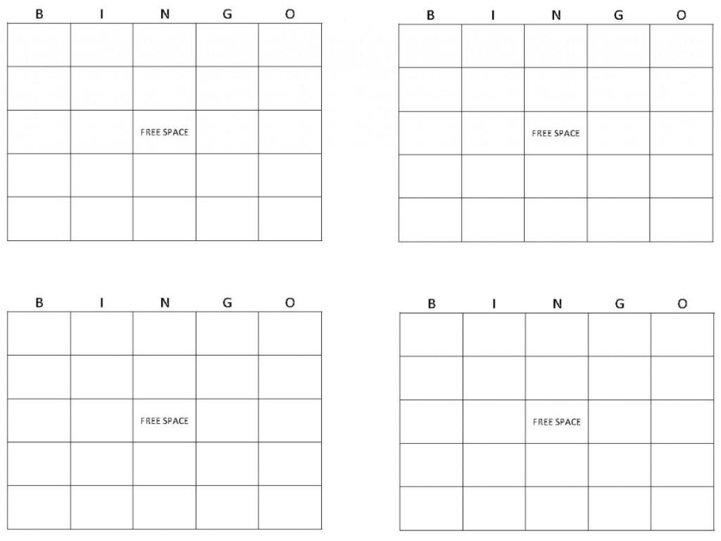 Bingo Card Template   Bingo Template   Printable Blank Bingo Cards