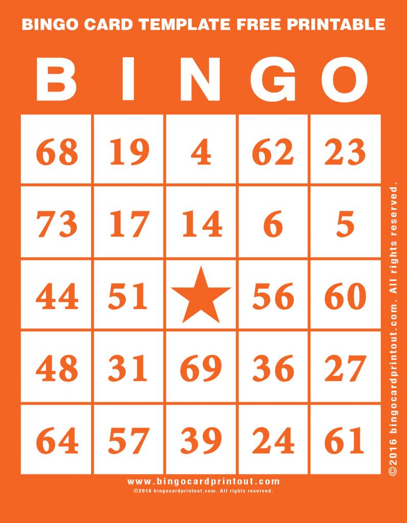 Bingo Card Template Free Printable - Bingocardprintout | Printable Bingo Cards 4 Per Page