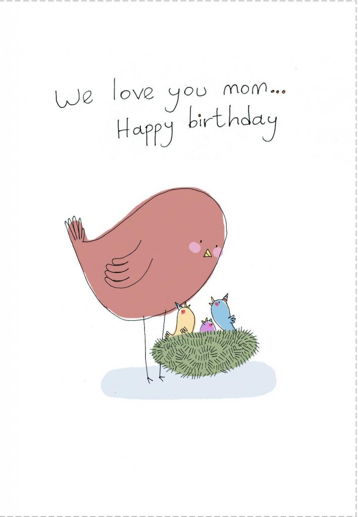 Birthday #card Free Printable We Love You Mom Greeting Card   Printable Birthday Cards For Mom