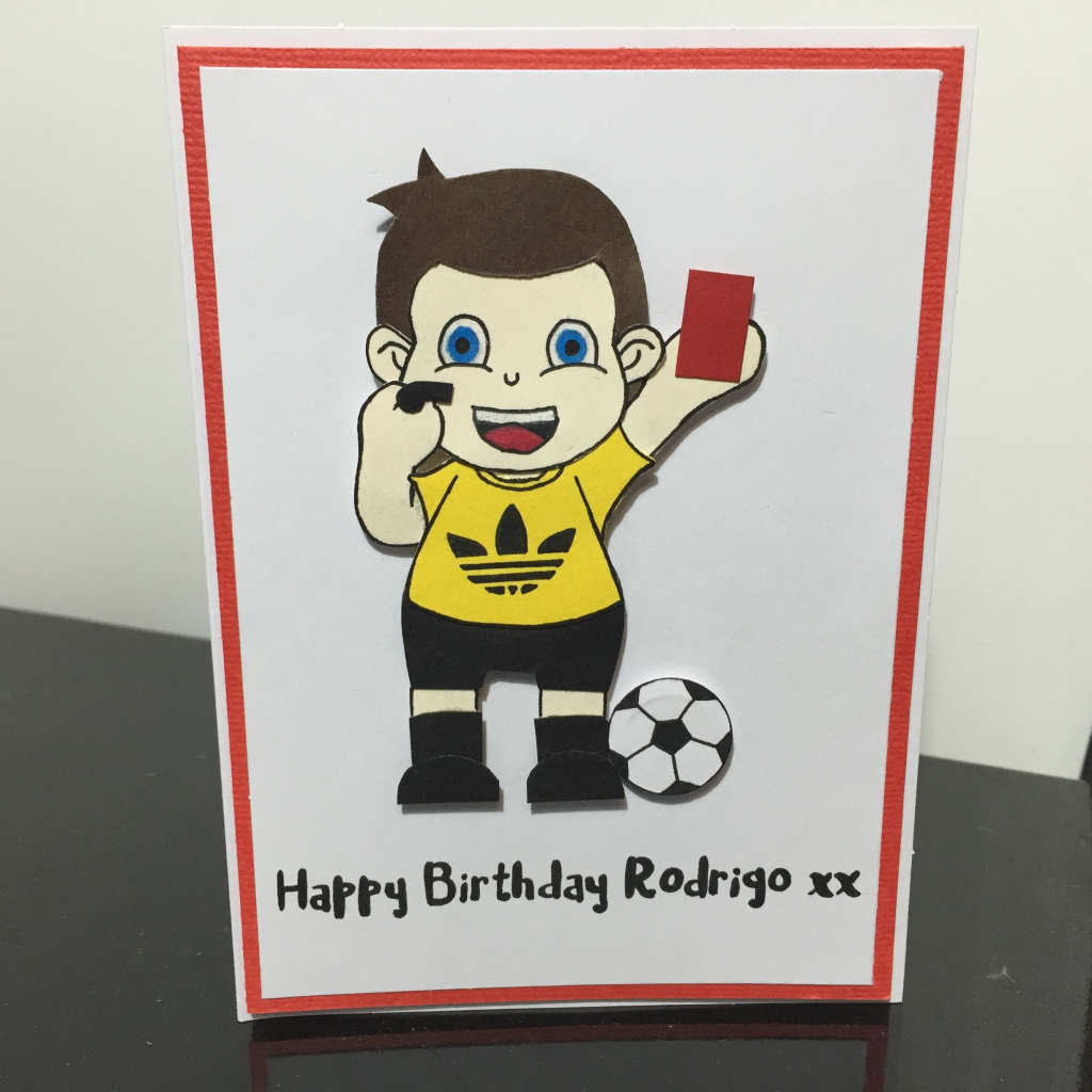 Birthday Card | Soccer Referee | Sarah Lou Cards | Soccer Referee | Soccer Referee Cards Printable