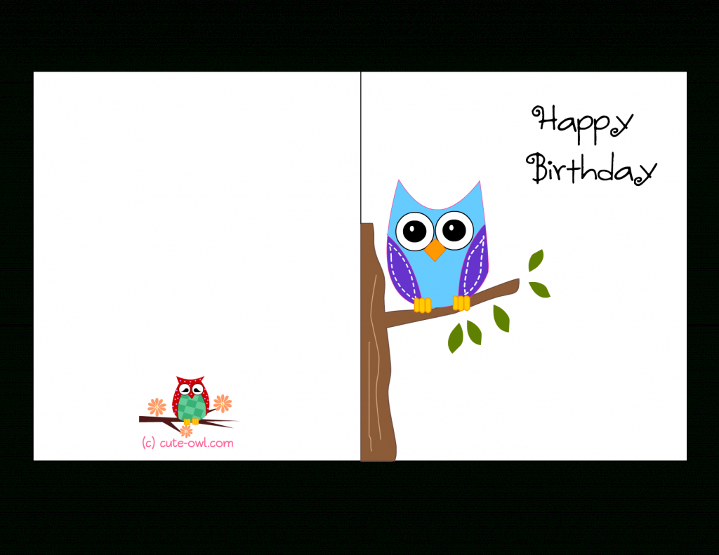 Birthday Card To Print Free - Kleo.bergdorfbib.co   Happy Birthday Free Cards Printable