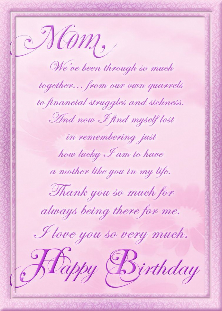 Birthday Cards For Facebook Free | Birthday Card For Mom | Free Printable Birthday Cards For Mom From Son