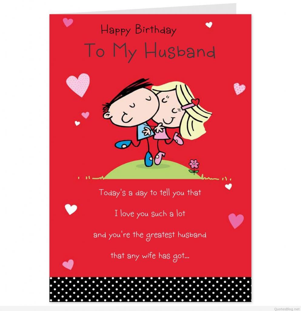 Birthday-Invitations-Card-Romantic-Birthday-Wishes-To-Husband-For | Free Printable Romantic Birthday Cards