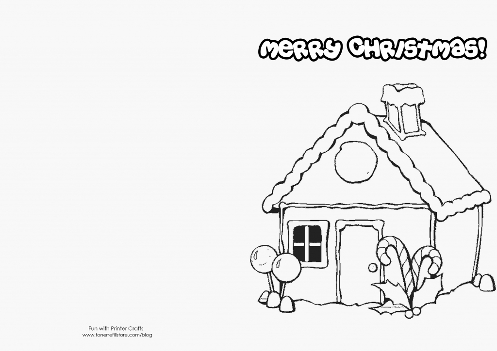 Black And White Printable Christmas Cards - Printable Cards   Printable Christmas Cards For Kids