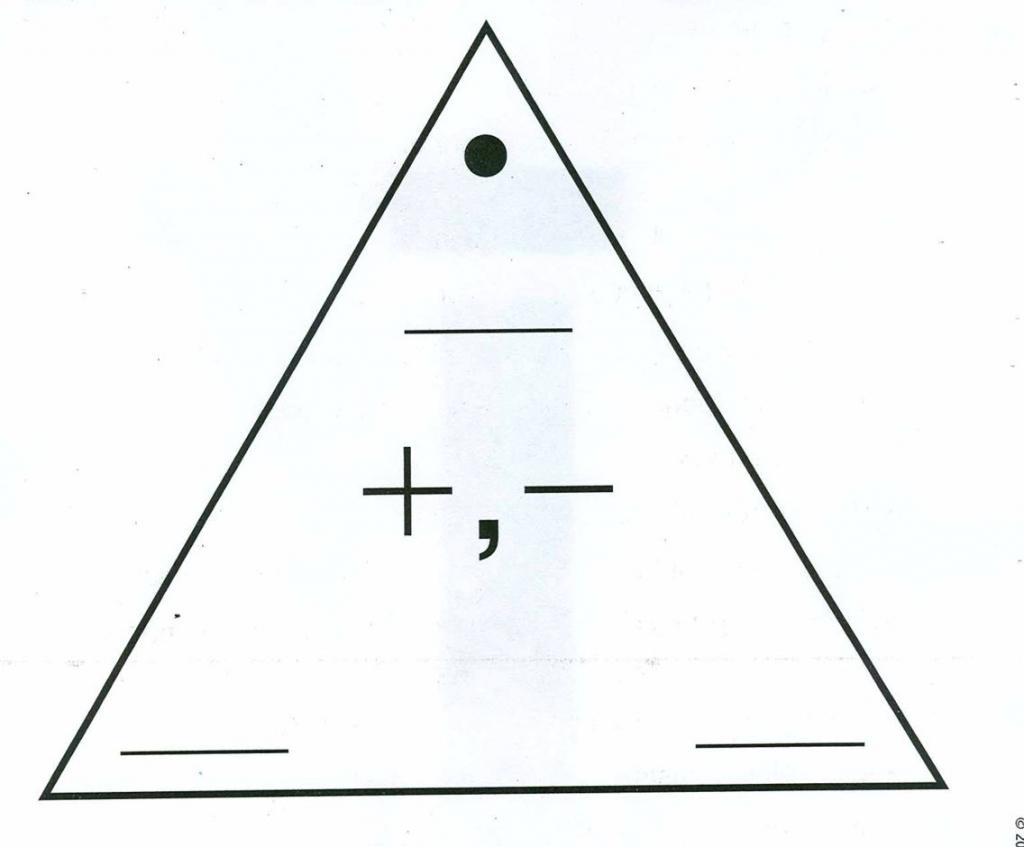 Blank Addition/subtraction Fact Triangle   Computation   Addition   Triangle Flash Cards Addition And Subtraction Printable