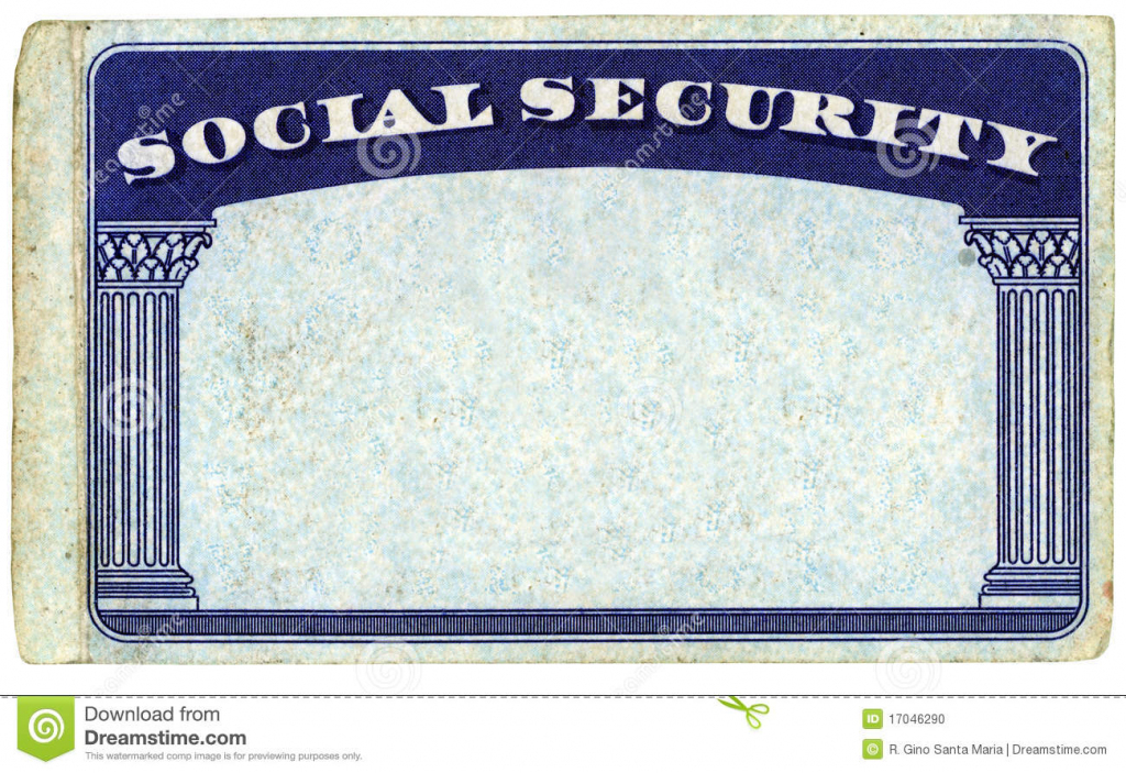 Blank American Social Security Card Stock Photo - Image Of Isolated   Printable Social Security Card Template