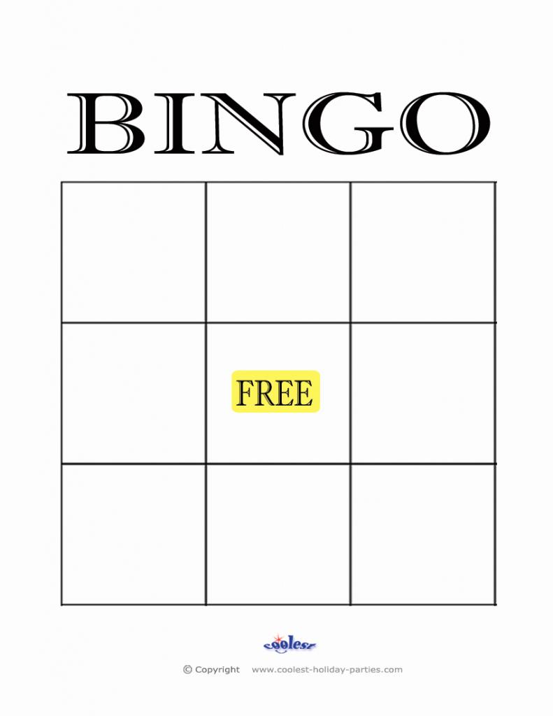 Blank Bingo Card Template   Cranfordchronicles   Printable Blank Bingo Cards