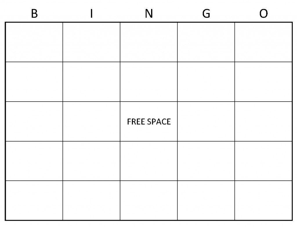 Blank Bingo Cards   Example Of Blank Bingo Cards   Things To Wear   Printable Blank Bingo Cards