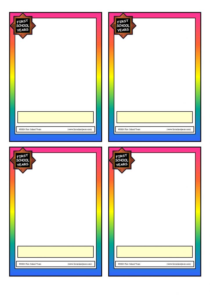 Blank Flash Cards Template - Kleo.bergdorfbib.co | Free Printable Flash Card Maker Online