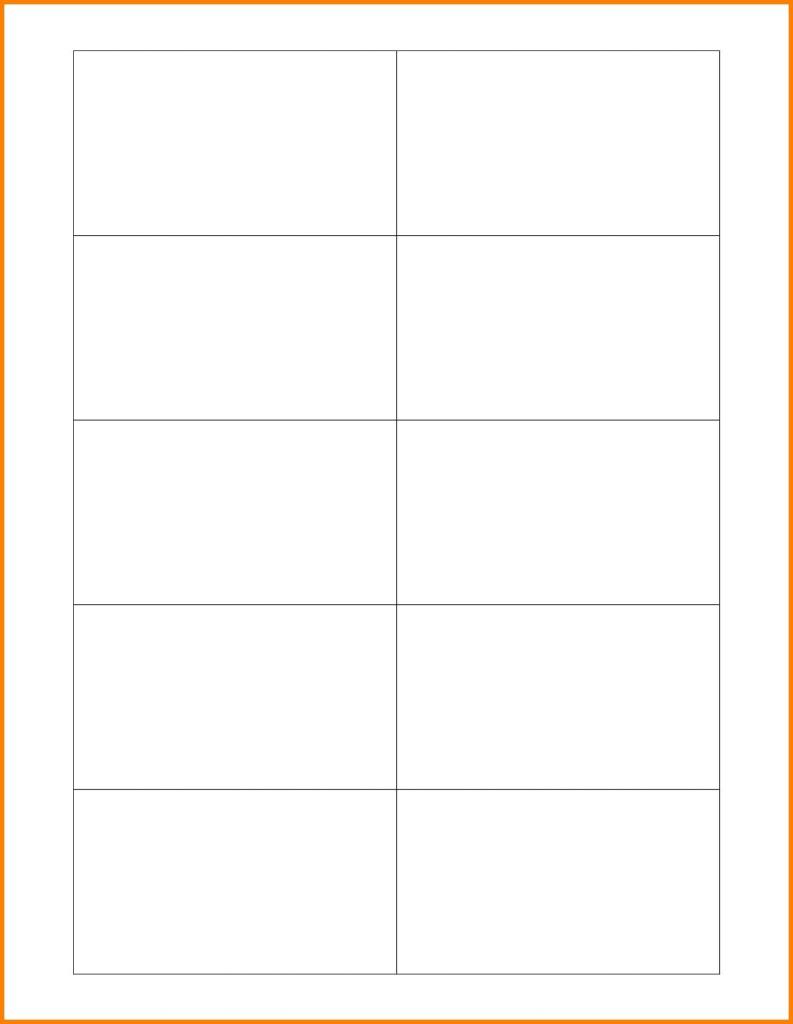 Blank Flash Cards Word Template - Btsmmo | Printable Blank Flash Cards