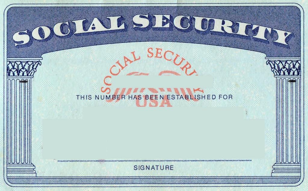 Blank Social Security Card Template   Social Security Card Print   Printable Social Security Card Template