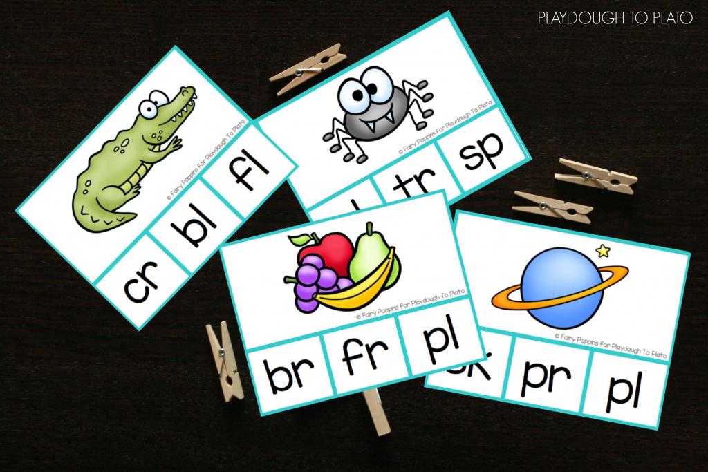 Blend Clip Cards - Playdough To Plato | Free Printable Blending Cards