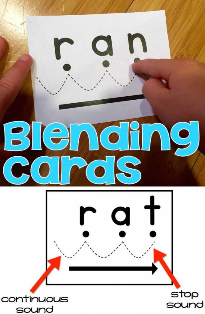 Blending Cards For Early Readers | Free Printable Blending Cards