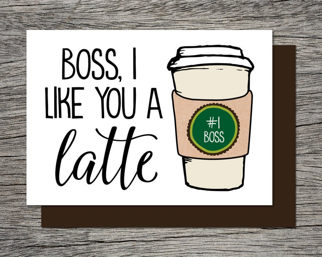 Boss's Day Card Bosses Day Card Printable Card Boss | Etsy | Printable Funny Bosses Day Cards