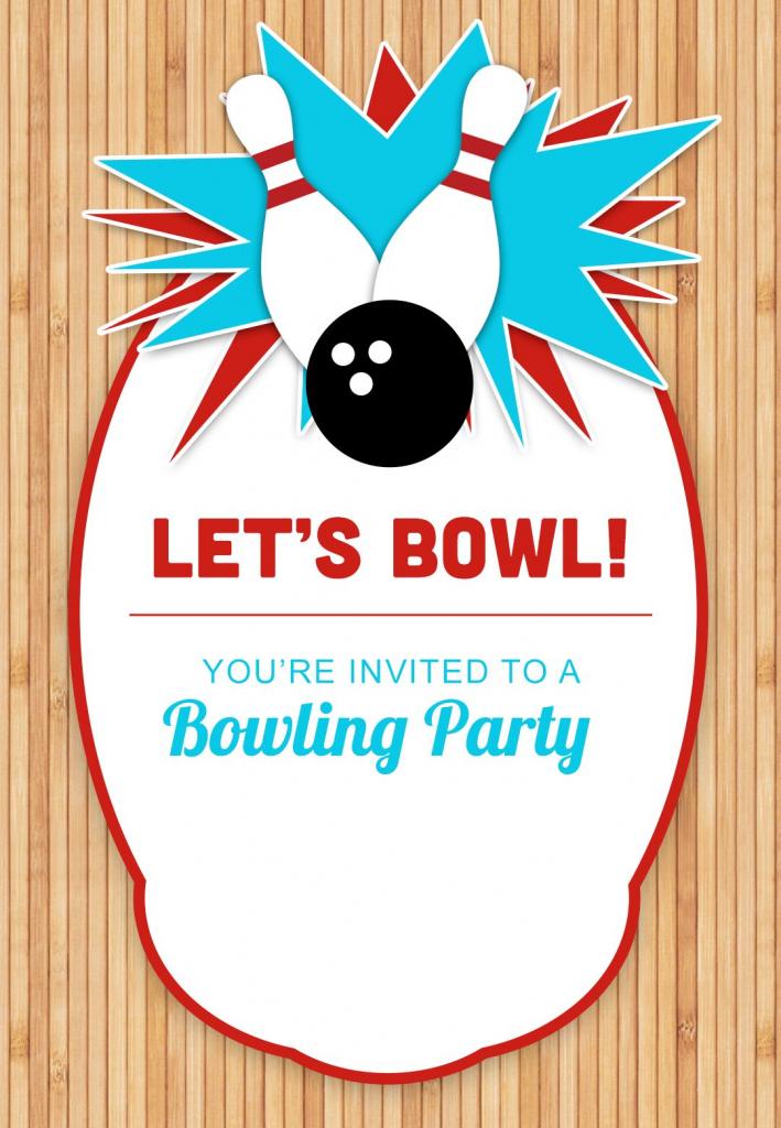 Bowling Party - Free Printable Birthday Invitation Template | Bowling Birthday Cards Printable