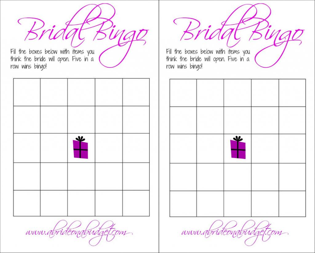 Bridal Bingo (And A Free Printable) | A Bride On A Budget | Printable Blank Bridal Shower Bingo Cards