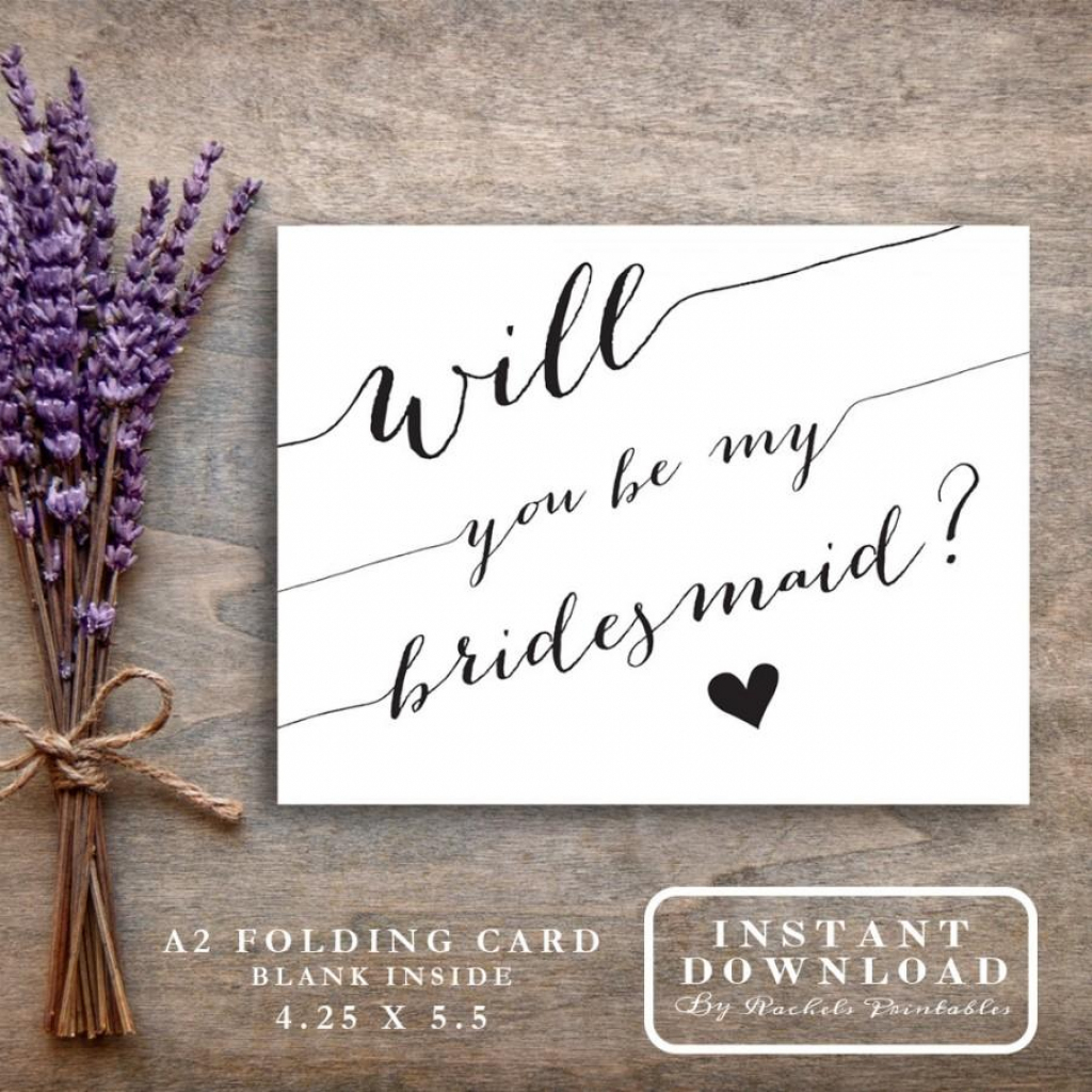"""Bridesmaid Card Printable """"will You Be My Bridesmaid"""" Asking   Printable Bridesmaid Proposal Cards"""