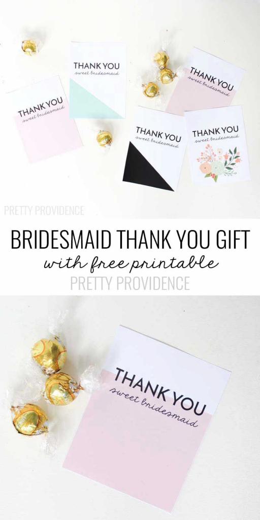 Bridesmaid Thank You Gift Printable   Michaels Weddings   Bridesmaid   Michaels Printable Gift Card