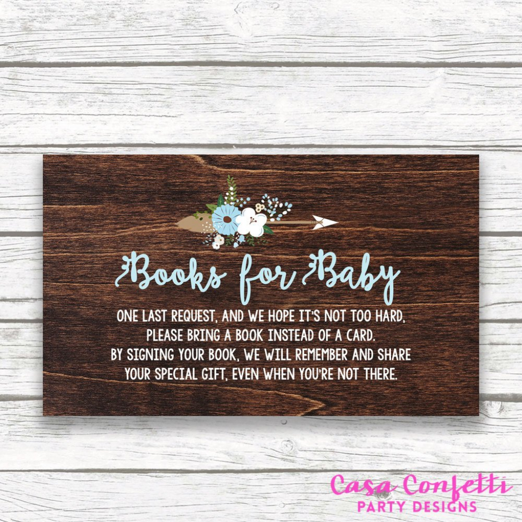 Bring A Book Instead Of A Card Baby Shower Invitation Insert, Baby   Please Bring A Book Instead Of A Card Printable