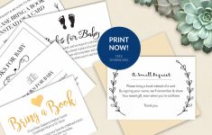 Bring A Book Instead Of Card (Free Printable!) – A Jubilee Day | Cards Sign Free Printable
