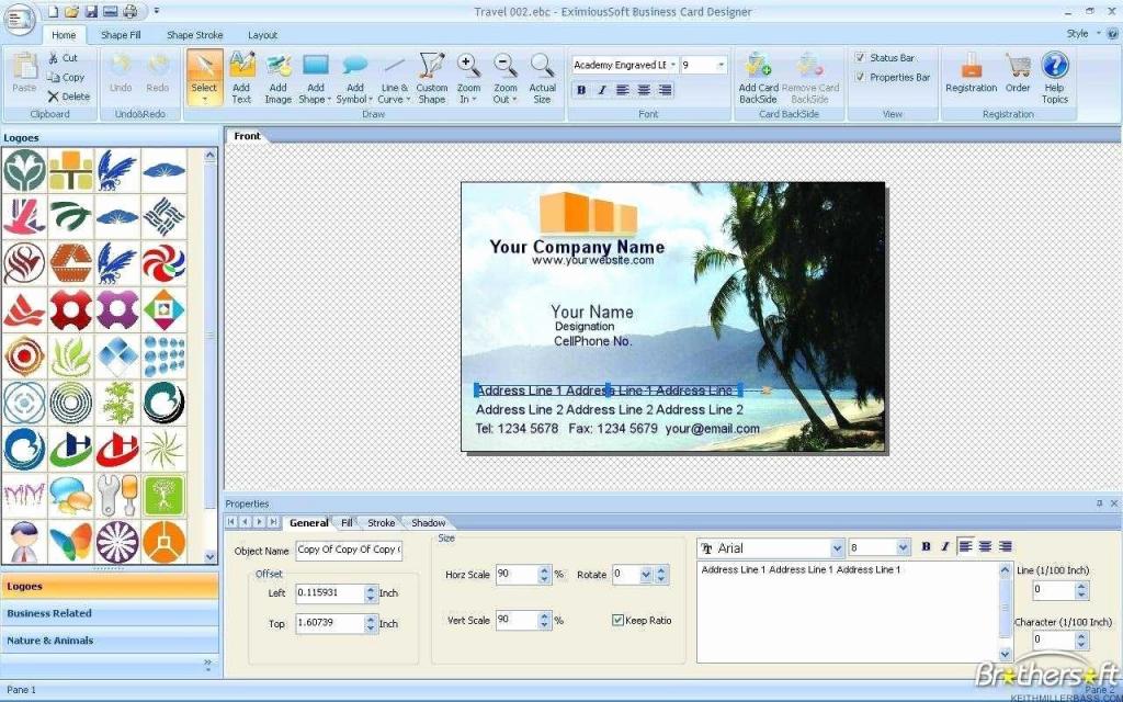 Business Card Maker Printable Unique Free Printable Business Card | Free Printable Business Card Maker