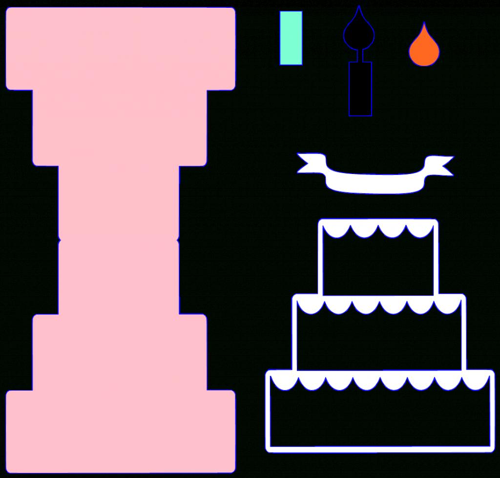 Cake Pop Up Birthday Card Printable Template   Projects To Try   Free Printable Pop Up Birthday Card Templates