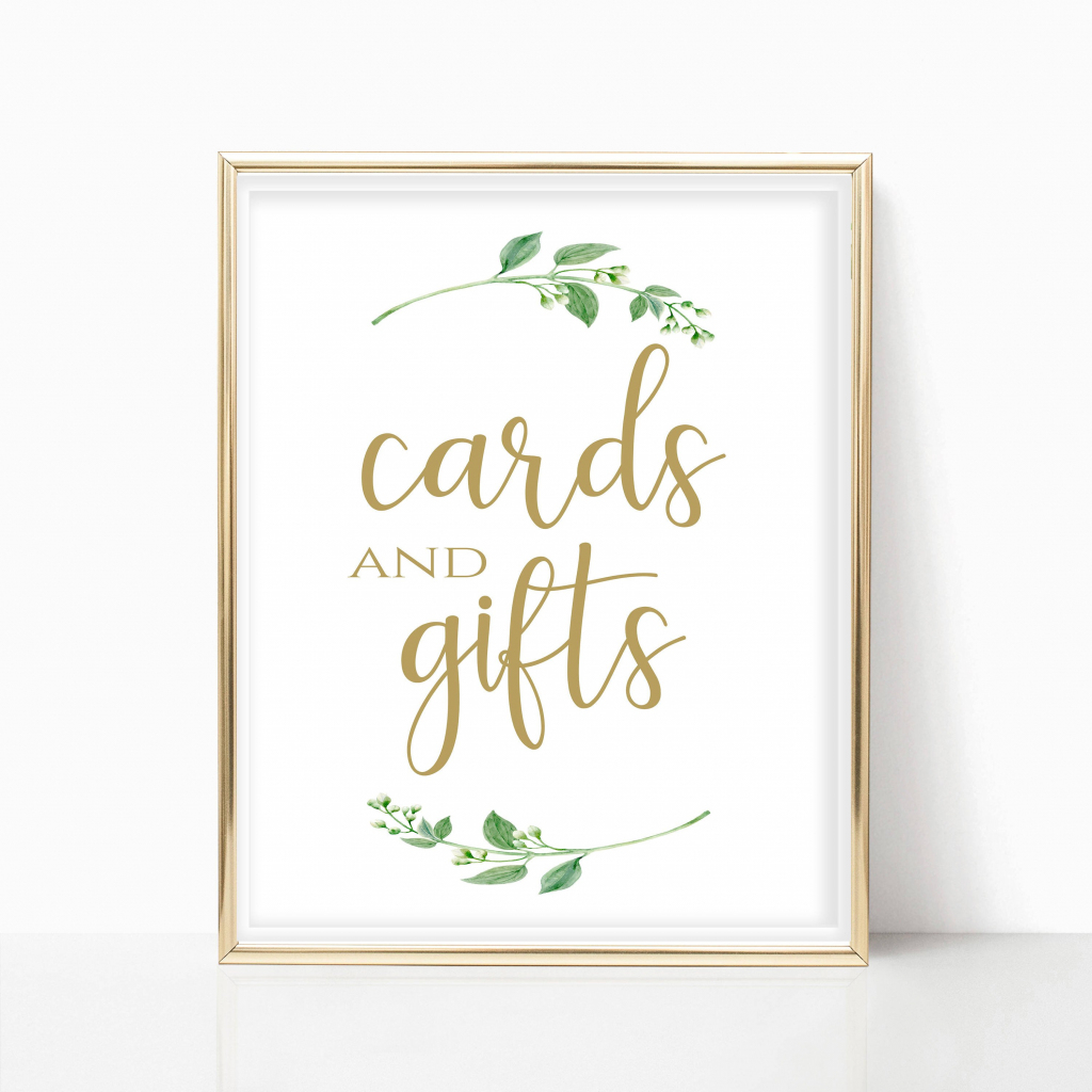 Cards And Gifts Printable Cards And Gifts Sign Printable Card   Etsy   Cards And Gifts Printable Sign