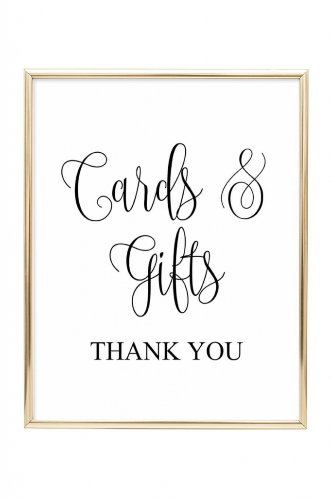 Cards And Gifts Wedding Sign | Diy Wedding | Wedding Signs, Wedding | Cards Sign Free Printable