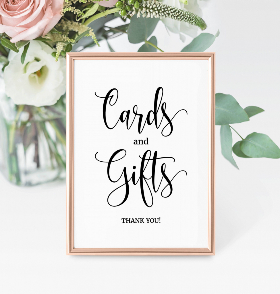 Cards And Gifts Wedding Sign, Printable Gifts Sign, Printable Cards   Cards And Gifts Printable Sign