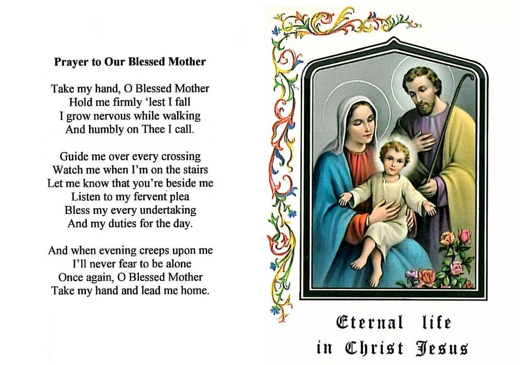 Catholic Prayer Cards | Free Printable Catholic Prayer Cards