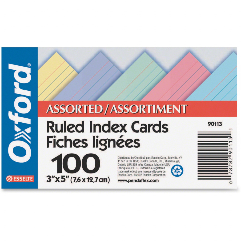 Challenge Industries Ltd. :: Office Supplies :: Paper & Pads   Printable Index Cards 3X5
