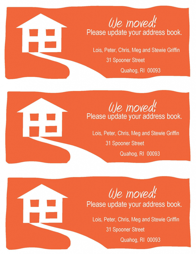 Change-Of-Address Cards, A Fun Example. Free Printable In Your | We Are Moving Cards Free Printable