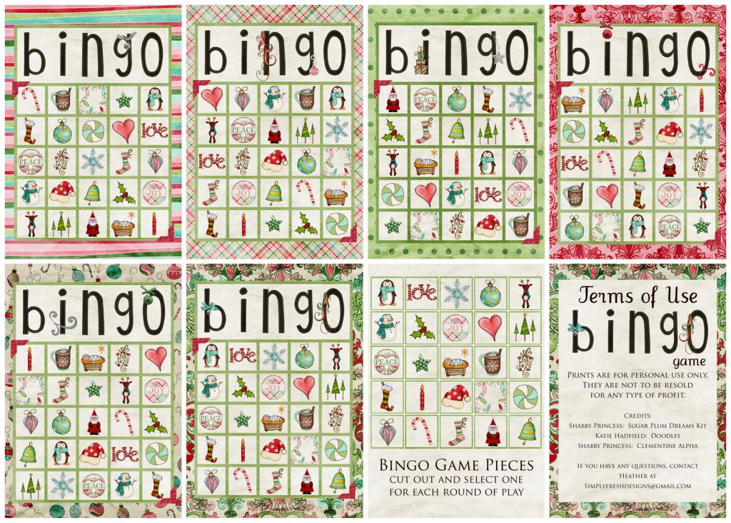 Christmas Bingo Game - Simply Fresh Designs   Vocabulary Bingo Cards Printable