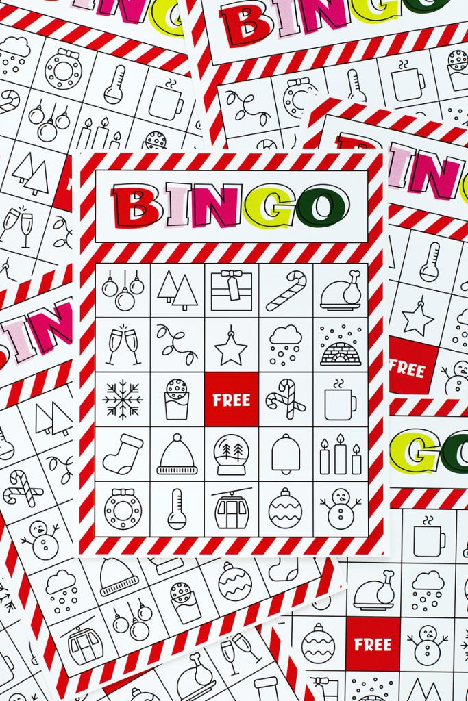 Christmas Bingo Printable For Large Groups & Small • A Subtle Revelry | Free Printable Christmas Bingo Cards