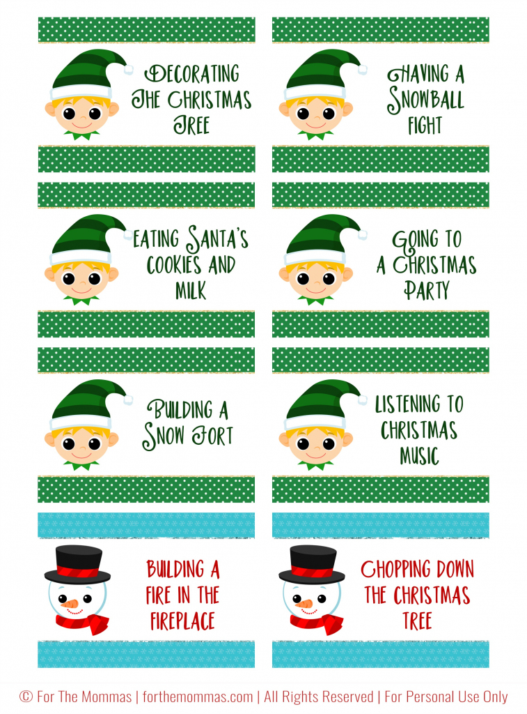 Christmas Charades Free Printable - Start A New Holiday Tradition - Ftm   Free Printable Christmas Charades Cards