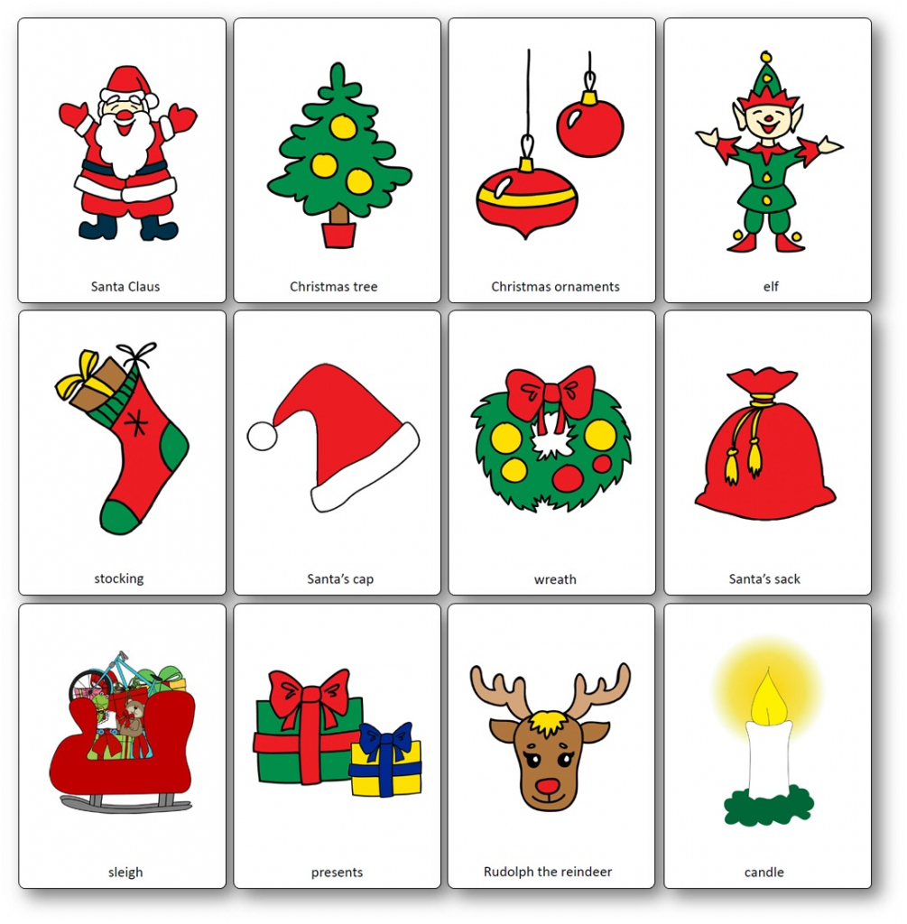 Christmas Flashcards - Free Printable Flashcards To Download - Speak | Printable Picture Cards For Kindergarten