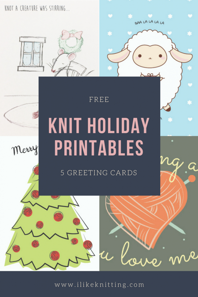 Christmas! Free Printable Knitting Greeting Cards - I Like Knitting   Christmas Cards For Loved Ones Printables